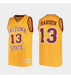 Men Arizona State Sun Devils James Harden Alumni Gold College Baketball Jersey