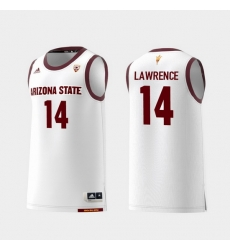 Men Arizona State Sun Devils Kimani Lawrence White Replica College Basketball Jersey