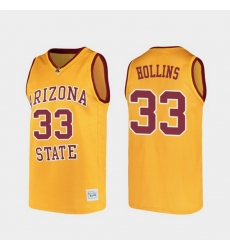 Men Arizona State Sun Devils Lionel Hollins Alumni Gold College Basketball Jersey