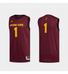Men Arizona State Sun Devils Maroon Swingman Basketball Jersey