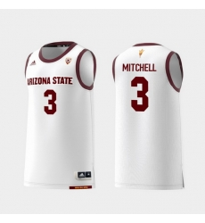 Men Arizona State Sun Devils Mickey Mitchell White Replica College Basketball Jersey