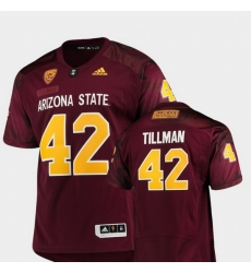 Men Arizona State Sun Devils Pat Tillman 42 Maroon Game Special Premier Jersey