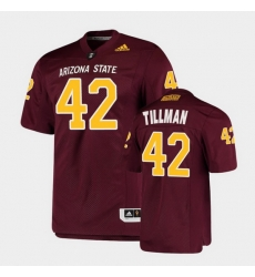 Men Arizona State Sun Devils Pat Tillman College Football Maroon Premier Jersey