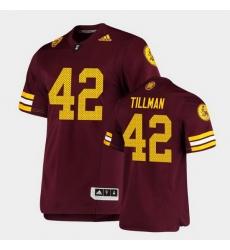 Men Arizona State Sun Devils Pat Tillman Premier Maroon Football Jersey