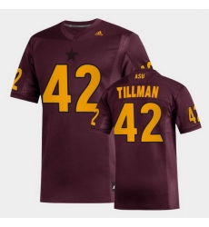 Men Arizona State Sun Devils Pat Tillman Replica Maroon Football Jersey