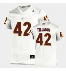 Men Arizona State Sun Devils Pat Tillman Replica White Football Jersey