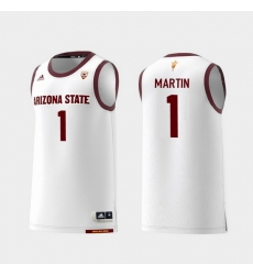 Men Arizona State Sun Devils Remy Martin White Replica College Basketball Jersey