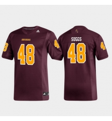 Men Arizona State Sun Devils Terrell Suggs 48 Maroon Replica Alumni Football Jersey