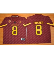 Sun Devils #8 D  J  Foster New Red Stitched NCAA Basketball Jersey