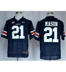 Auburn Tigers 21 Tre Mason Blue NCAA Football Authentic Jerseys