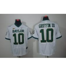 NCAA Baylor Bears 10# Robert Griffin III White Color Jerseys