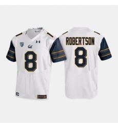 California Golden Bears Demetris Robertson College Football White Jersey