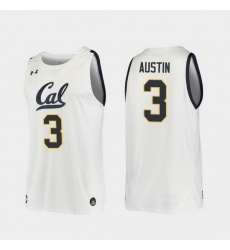 Men California Golden Bears Paris Austin Replica White College Basketball 2019 20 Jersey