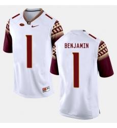 Florida State Seminoles Bkelvin Benjamin College Football White Jersey