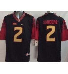Florida State Seminoles (FSU) #2 Deion Sanders Black Stitched NCAA Limited Jersey
