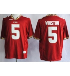 Florida State Seminoles FSU 5 Jameis Winston Red NCAA Jerseys
