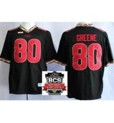 Florida State Seminoles (FSU) 80 Rashad Greene Black College Football NCAA Jerseys 2014 Vizio BCS National Championship Game Patch