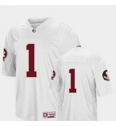 Men Florida State Seminoles 1 White College Football Colosseum Jersey