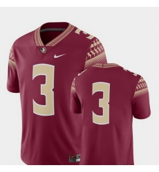 Men Florida State Seminoles 3 Garnet College Football 2018 Game Jersey