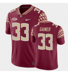 Men Florida State Seminoles Amari Gainer Game Garnet College Football Jersey