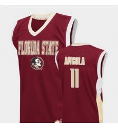 Men Florida State Seminoles Braian Angola Red Fadeaway College Basketball Jersey