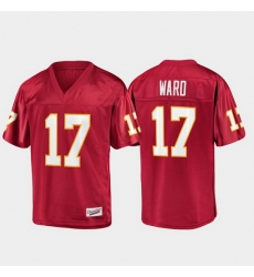 Men Florida State Seminoles Charlie Ward 17 Garnet Champions Collection Jersey