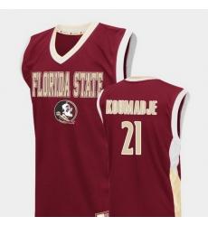 Men Florida State Seminoles Christ Koumadje Red Fadeaway College Basketball Jersey