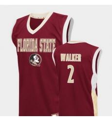 Men Florida State Seminoles Cj Walker Red Fadeaway College Basketball Jersey