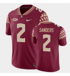 Men Florida State Seminoles Deion Sanders Game Garnet College Football Jersey