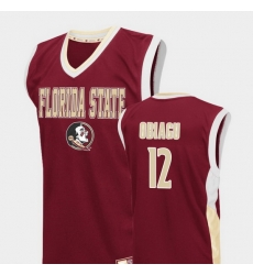 Men Florida State Seminoles Ike Obiagu Red Fadeaway College Basketball Jersey