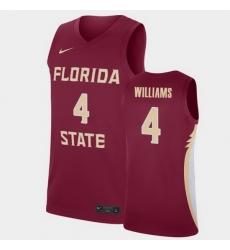Men Florida State Seminoles Patrick Williams College Basketball Garnet 2020 Nba Draft Jersey