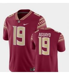 Men Florida State Seminoles Roberto Aguayo 19 Garnet Game College Football Jersey