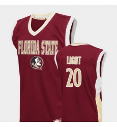 Men Florida State Seminoles Travis Light Red Fadeaway College Basketball Jersey