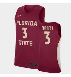 Men Florida State Seminoles Trent Forrest Replica Garnet College Basketball Jersey