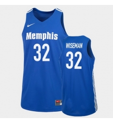 Men Memphis Tigers James Wiseman College Basketball Blue 2020 Nba Draft Jersey