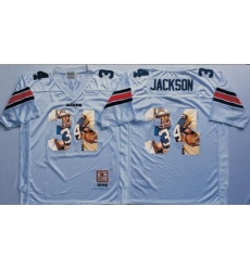 Tigers #34 Bo Jackson White Player Fashion Stitched NCAA Jersey