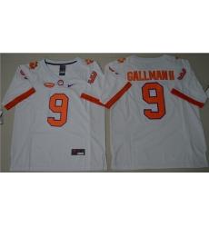 Tigers #9 Wayne Gallman II White Limited Stitched NCAA Jersey