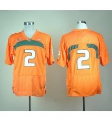 Hurricanes #2 Orange Stitched NCAA Jerseys