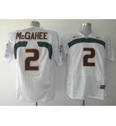 Hurricanes #2 Willis McGahee White Embroidered NCAA Jerseys