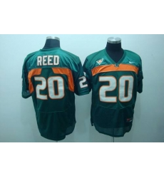 Hurricanes #20 Ed Reed Green Stitched NCAA Jerseys