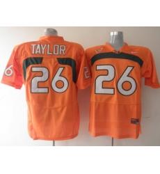 Hurricanes #26 Sean Taylor Orange Embroidered NCAA Jerseys