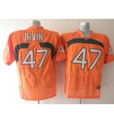 Hurricanes #47 Michael Irvin Orange Embroidered NCAA Jerseys