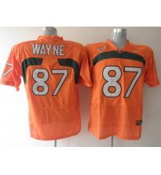 Hurricanes #87 Reggie Wayne Orange Stitched NCAA Jerseys