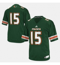 Men Miami Hurricanes College Football Green Jersey