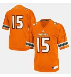 Men Miami Hurricanes College Football Orange Jersey