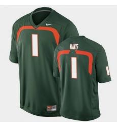 Men Miami Hurricanes D'Eriq King Game Green College Football Jersey