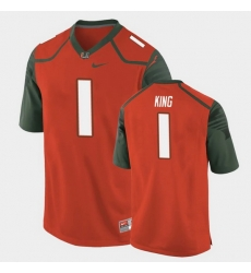 Men Miami Hurricanes D'Eriq King Replica Orange College Football Jersey