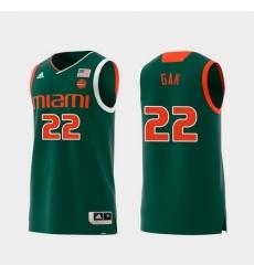 Men Miami Hurricanes Deng Gak Green Replica College Basketball Jersey