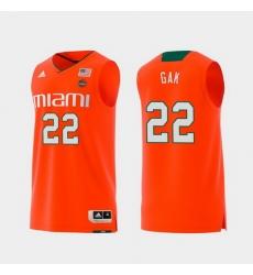 Men Miami Hurricanes Deng Gak Orange Replica College Basketball Jersey