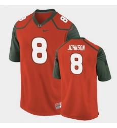 Men Miami Hurricanes Duke Johnson Replica Orange College Football Jersey